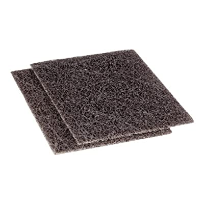 "Scotch-Brite 82 Fiberglass Heavy Duty Griddle Pad, 5-1/2"" Length x 4-1/2"" Width, Brown (4 Boxes of 10)"