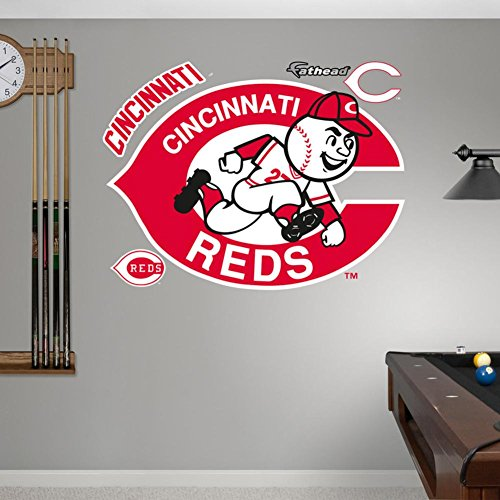 Cincinnati Reds Classic Logo Wall Decal 51 x 36in