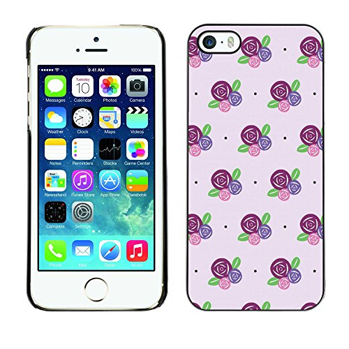 Ziland / Premium Slim HD plastique et d'aluminium Coque Cas Case Drapeau Cover / Flowers Purple Pink / Apple iPhone 5 / 5S