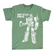 Saint Patrick's Day Shirt Transformers Hoptimus Prime Shirt - Mens Beer T-Shirt