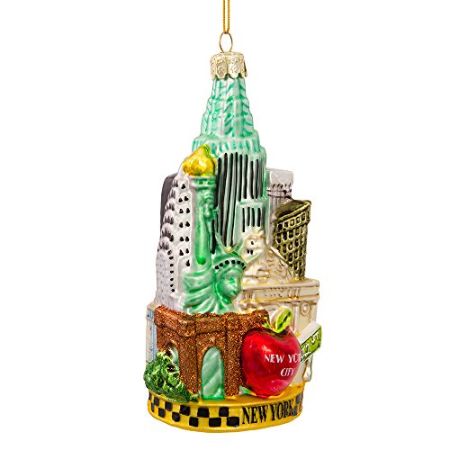 Kurt Adler C4055 New York Glass Cityscape Ornament, 5-1/2-Inch ()