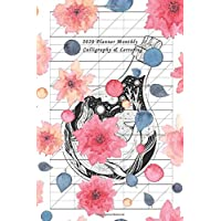 2020 Weekly Planner Calligraphy & Lettering: Year Plan Organizer with Slanted Graph Paper Grid Blank Lined Creative…