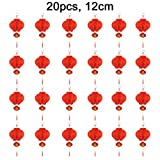 "Chinese Red Lanterns, 5"" (12 cm) 20 pcs (More Size) For New Year, Chinese Spring Festival, Wedding, Festival, Restauran Decoration"