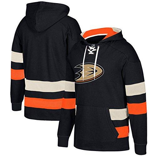 adidas NHL Anaheim Ducks Ccm Pullover Jersey Hood, Black, X-Large