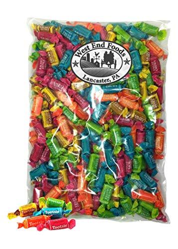 Tootsie Fruit Chews Bulk Candy 3 lb Bag for Halloween, Thanksgiving, Hanukkah, Christmas and New ()