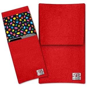 SIMON PIKE Cáscara Funda de móvil Sidney 13 rojo Nokia 130 Fieltro de lana