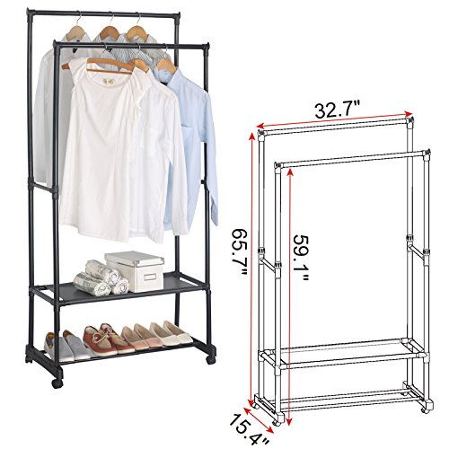 UPC 191099003642, WOLTU Garment Rack Portable Clothing Hanging Rolling Clothes Rack with Brake Wheels