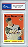 Troy Tulowitzki 2007 Topps Rookie Colorado Rockies Autographed Signed Trading Card - Certified Authentic