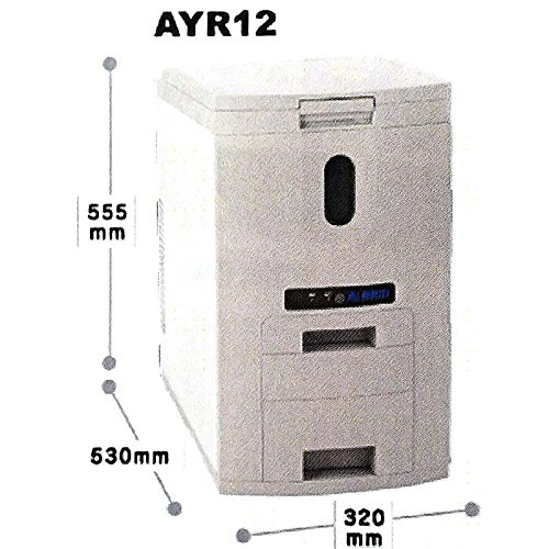 アルインコ 米びつクーラー グレー 高さ:555mm奥行:560mm間口:320 AYR12 B01JY4SI5Q