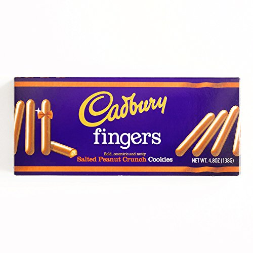 Cadbury Fingers Salted Peanut Crunch 4.8 oz each (1 Item Per Order, not per case) -