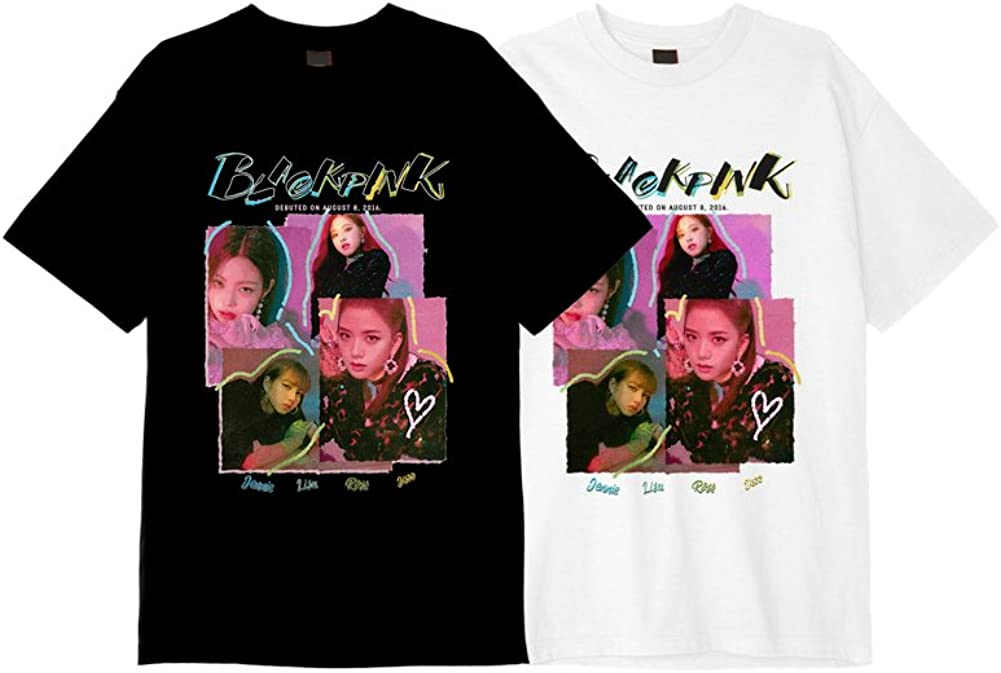 YG Entertainment Idol Goods Fan Products Select Blackpink Square UP T-Shirts Type 2 Large Black