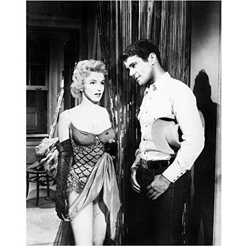 50s Showgirl Costumes (Bus Stop Marilyn Monroe Standing In Costume With Don Murray 8 x 10 Photo)