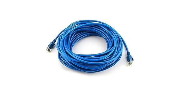 Amazon.com: eDealMax Portátil Inicio PC de red RJ45 LAN Ethernet Patch Router Cable de alambre de Cable de 12M de Cuerpo entero Azul: Electronics