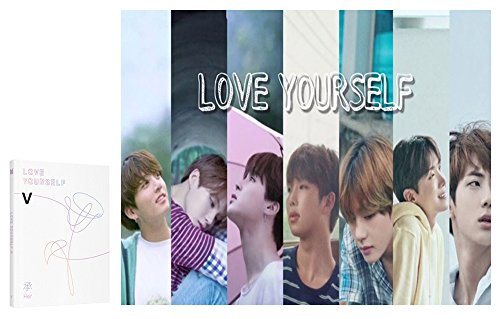 Price comparison product image BTS [V Ver.] LOVE YOURSELF Her 5th Mini Album BANGTAN BOYS CD + Official Poster + Photo Book + Mini Book + Photo Card + Gift