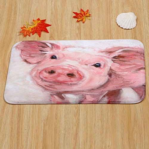 (Molyveva 1pc New Anti-skid Mats Home Decor Pig Personalized Rug Carpet Bedroom/Bathroom Floor Mat 40cm*60cm)