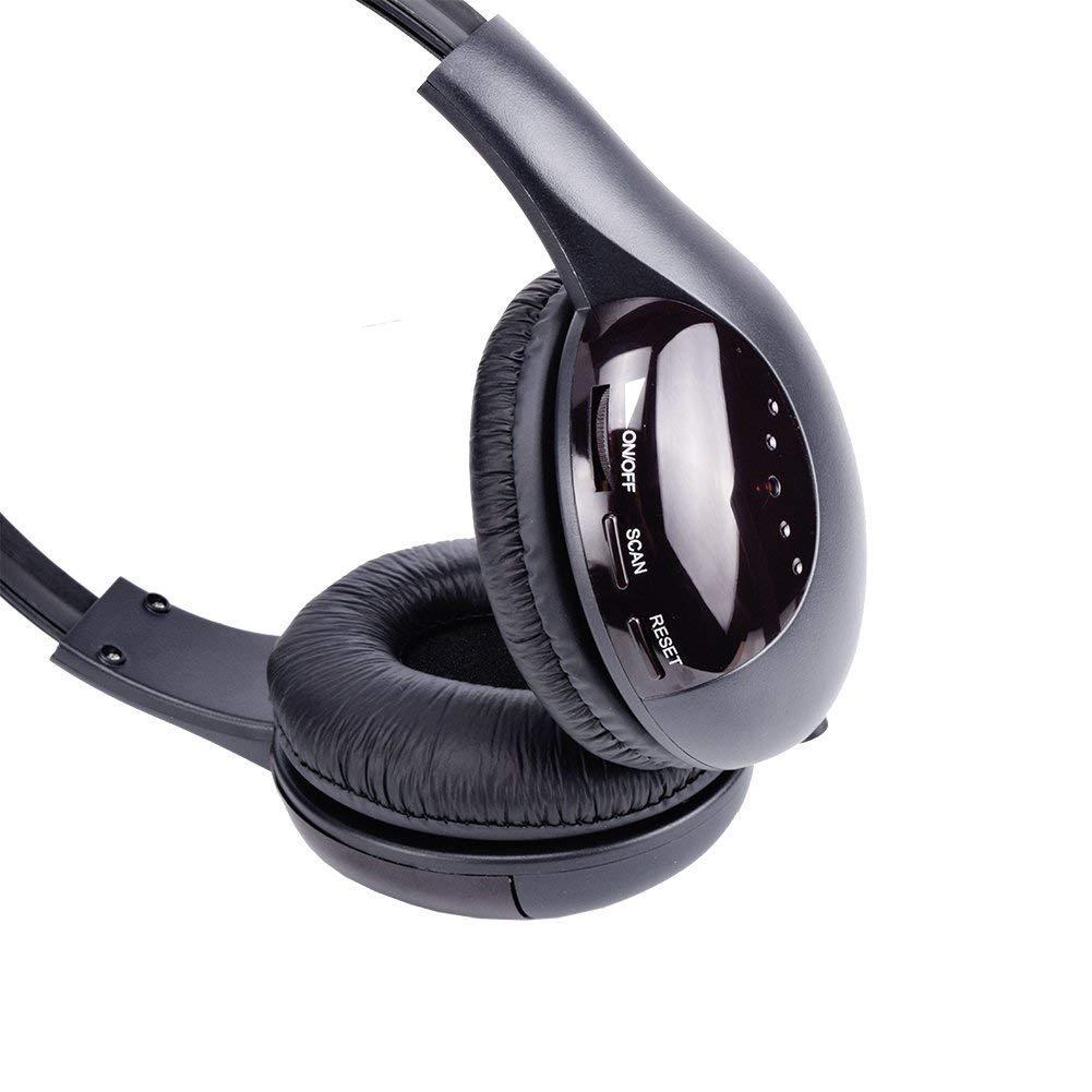 Auriculares inalámbricos de TV Inicio Auriculares para Ver televisión, Ears de TV Micrófono 5 en 1 Funciones con Transmisor/Radio FM/Conector de 3,5 mm/Chat ...