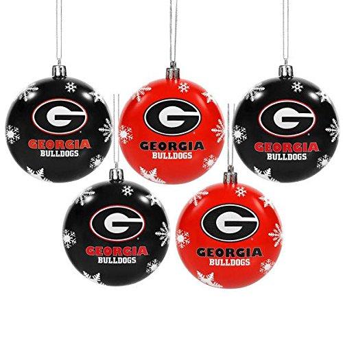 - Georgia 2016 5 Pack Shatterproof Ball Ornament Set