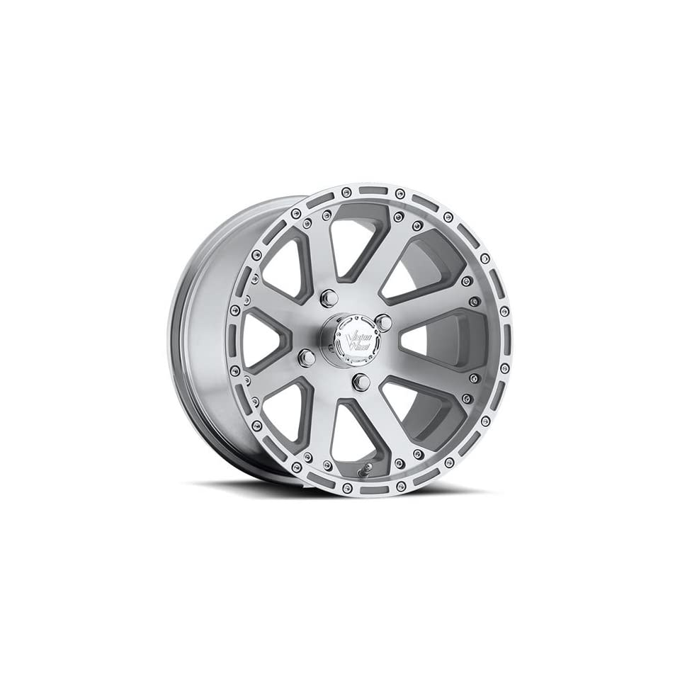 Vision Outback 12 Machined Wheel / Rim 4x136 with a 2.5mm Offset and a 110.5 Hub Bore. Partnumber 159 127137M4