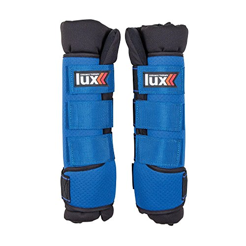 Lux Ceramic Therapy Horse Quick Wraps, Therapeutic Leg Wraps for Injury Prevention and Rehab, Set of 2 - Large by Lux (Image #1)