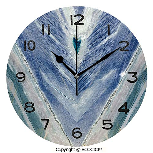 - SCOCICI Frameless Clock 3D DIY Decorative Clock Onyx Stone Tribal Style with Color Elements Agate Authentic Pattern Decorative 10 Inch Large Size Round Wall Clock for Living Room Bedroom Office Hotel