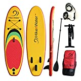 HikenWater Teenager Inflatable Stand Up Paddle board 8'(4'' Thick) With Paddle, Backpack, Hand-Pump, Leash