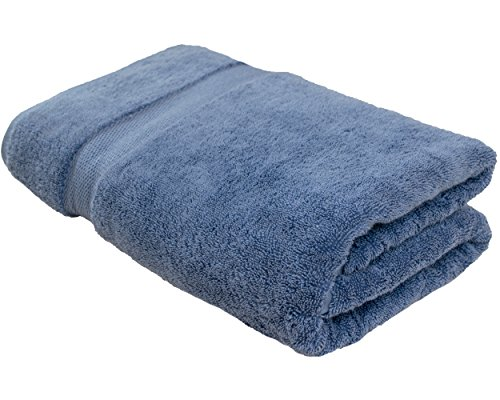 Cotton & Calm Exquisitely Plush and Soft Oversized Bathsheet Towel, Blue – 1 Extra Large Bath Towel (35″ x 70″) – Spa Resort and Hotel Quality, Super Absorbent 100% Cotton Luxury Bathroom Towels