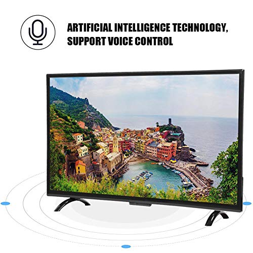 32 Inch HDR Smart Curved TV with Voice Control, MPEG Noise Reduction Technology. Smart TV, Compatibel with Network Cable and WiFi Wireless. 1920x1200 High Resolution.(US)