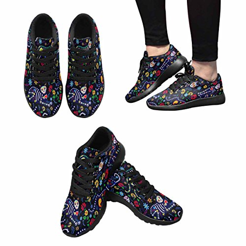 Interestprint Femmes Jogging Running Sneaker Léger Aller Facile Marche Confort Sport Chaussures De Course Multi 11
