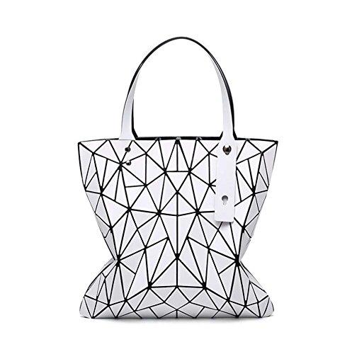 à Crossbody pour dames réglables Blanc Sacs Sac les loisirs Shopping Géométrique Sacs main Top Femmes bandoulière travail à Messenger poignée Sac p5FZ8qxxw