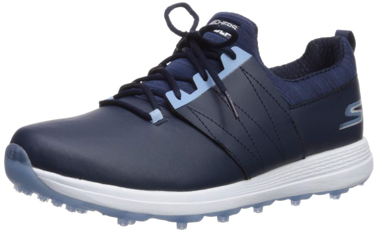 Skechers Women's Eagle Spikeless Golf Shoe, Navy/Blue, 7.5 M US by Skechers