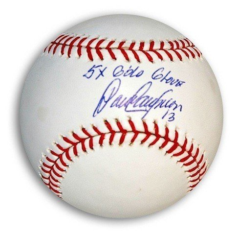 Inscribed Gold Glove (Autographed Dave Concepcion Baseball Inscribed 5X Gold Glove - Certified Authentic Signature)