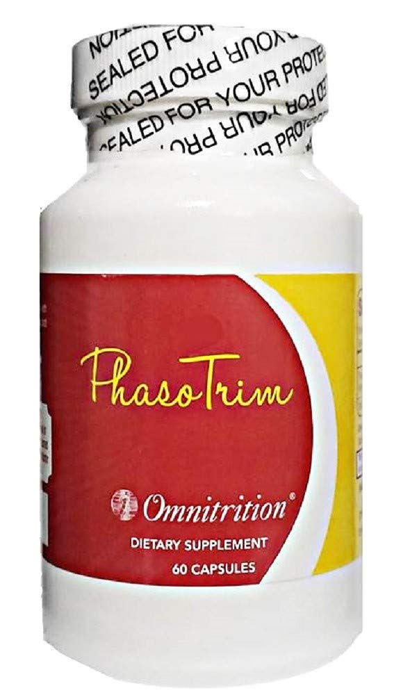 OmniTRIM PhasoTrim Dietary Supplement, 60 Capsules - 600 milligrams Phaseolus Vulgaris Extract by Omnitrition