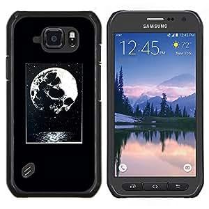Eason Shop / Premium SLIM PC / Aliminium Casa Carcasa Funda Case Bandera Cover - Noche luna impresiones de Halloween - For Samsung Galaxy S6 Active G890A