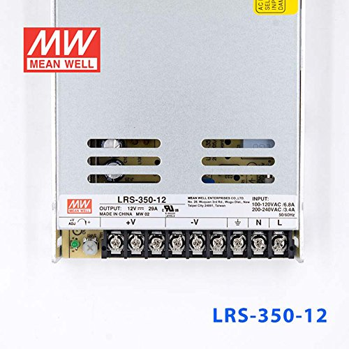 MEAN WELL LRS-350-12 Switching Power Supply 350W 12V 29A Constant Current by MEAN WELL (Image #1)
