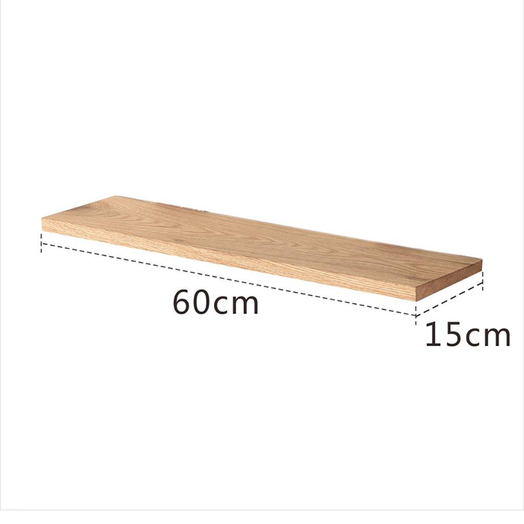 PM-Borders Wood Shelf Wall Mount Assembling Wall shelf Floating Shelf TV Wall Decorative Frame (DIY assembly&Load 10KG) (Size : 60CM)