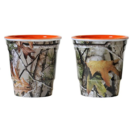 Camo Shot Cups  Next Camo  Orange Interior  Heavy Duty Melamine  2 Oz  Shot Glass Cups  2 Pack  By Havercamp
