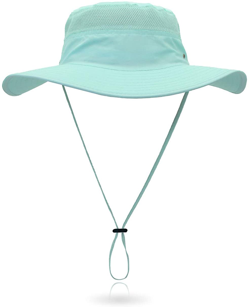 Jane Shine Outdoor Sun Hat Bucket Hats for Women Sun Protection Mesh Cap Quick-Dry UPF 50+