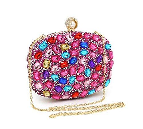 de soirée mariage sacs à à clubs de sac les main sac les partie femmes pour main d'embrayage à de pour main strass Sacs Pink Shimmer RqFtwAA1