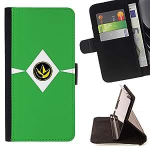 Momo Phone Case / Flip Funda de Cuero Case Cover - SIGN MINIMALISTA VERDE - LG Nexus 5 D820 D821