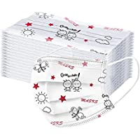 Xmansky 50 Piezas de máscaras para niños, mascarillas Infantiles Niños/niñas, 3 Capas, amigables con la Piel, cómodas…