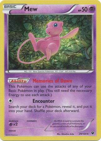 Pokemon - Mew (29/124) - XY Fates Collide - Holo for sale  Delivered anywhere in USA