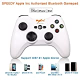 Apple MFi Certified - PXN PXN-6603 Speedy Wireless Gamepad Game Controller Made for iPhone/ iPad/ iPod touch Color White