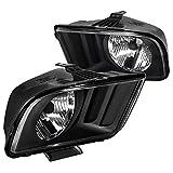 Spec-D Tuning LH-MST05JM-RS Ford Mustang V6 V8 Black Crystal Headlights Head Lamps