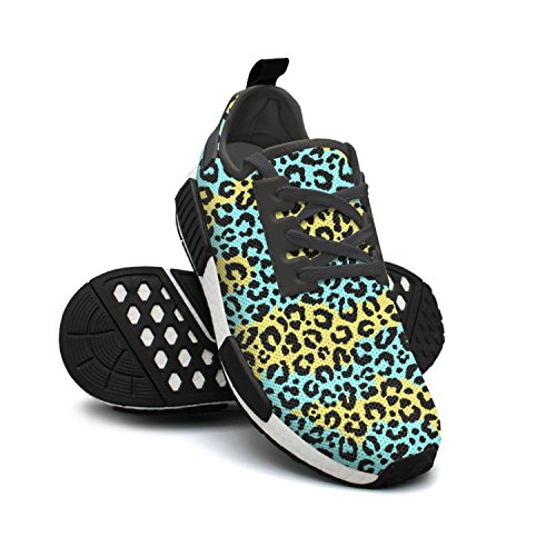 Breathable Green Print Fashion Womens Running Sneaker Shoes Leopard FAAERD Lightweight Cool Mesh Z0xABnEwq