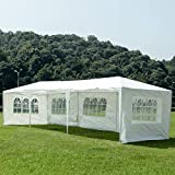 mecor 10'x30'Outdoor Canopy Party Event Wedding Tent with 5 Removable Sidewalls and Windows,Upgraded Stainless Steel Tube Waterproof Sun Shelter Canopy for Shows,Camping Etc