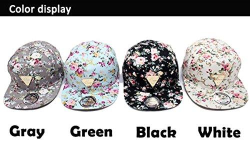 c7322b6d97f Zeagoo Floral Flower Snapback Hip-Hop Hat Flat Peaked Adjustable ...
