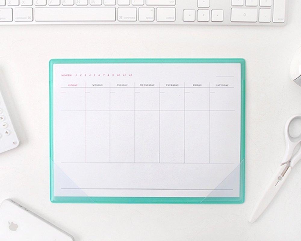 Amazon Com Simple Desktop Weekly Planner Pad Undated Calendar Desk