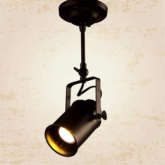 Fengdp Creative Loft LED Lámpara de riel Nordic Retro Luz de Punto ...