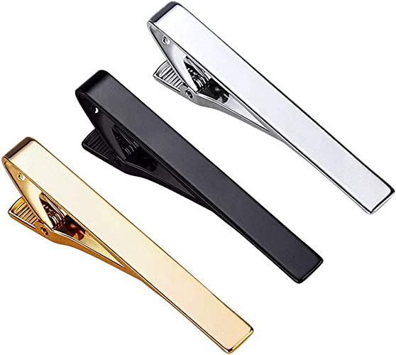 Amazon.com: Roctee Tie Clips for Men, 3 Pack Classic Tie Clip Silver Gold  Black Necktie Tie Bar Pinch Clips Suitable for Wedding Anniversary Business  and Daily Life: Jewelry