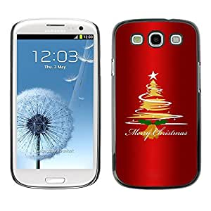 YOYO Slim PC / Aluminium Case Cover Armor Shell Portection //Christmas Holiday Happy Holidays 1264 //Samsung Galaxy S3